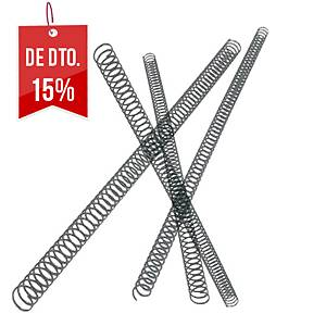 Pack de 100 espirais metálicas - Ø 6mm - preto