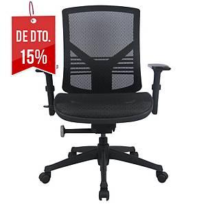 Cadeira executiva Lyreco com mecanismo sincronizado e braços - Preto