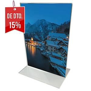 Expositor de mesa Lyreco - A5 - formato T vertical - vidro