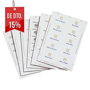 Pack de 200 cartolinas de identificação Durable Badgemaker - 5,4 x9 cm