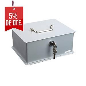 Caja de caudales Joma Vintage - 290 x 215 x 110 mm - acero - plata