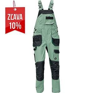 Pracovné nohavice s náprsenkou CERVA DAYBORO, veľkosť 52, svetlozelené