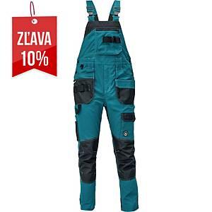 Pracovné nohavice s náprsenkou CERVA DAYBORO, veľkosť 56, tmavozelené