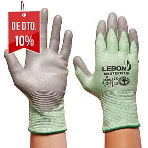 Caixa de 10 pares de luvas anti-corte Lebon Masterfit - tamanho 8