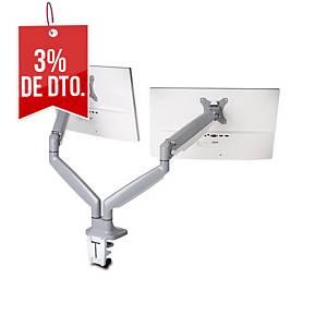 Brazo para dos monitores Kensington SmartFit® - altura ajustable - gris plata