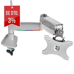 Braço para monitor Kensington SmartFit® - altura ajustável - prata cinza