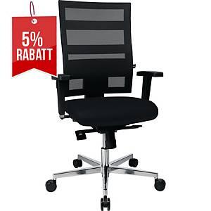 Bürostuhl Topstar Sitness X-Pander Plus, mittelhohe Rückenlehne, schwarz