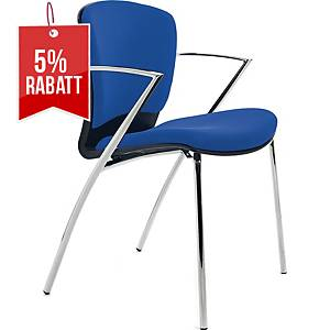 Besucherstuhl Rocada 966, stapelbar, blau, 2 Stück