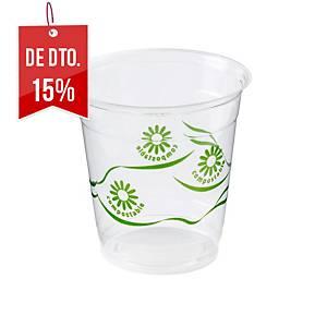 Pack de 50 copos Nupik de plástico compostável - 250 ml