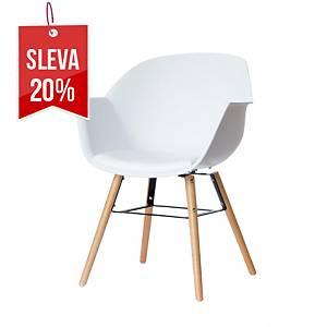 Recepční židle Paperflow Wiseman, bílé, 2 kusy