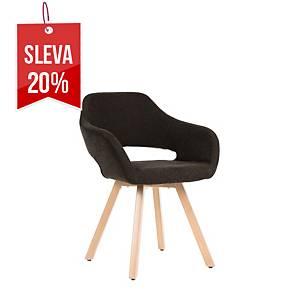 Židle Antares Belen Wood, černá
