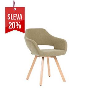 Židle Antares Belen Wood, šedá