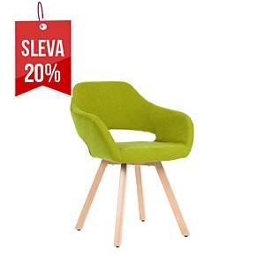 Židle Antares Belen Wood, zelená