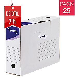 Pack 25 caixas arquivo definitivo formato A4 LYRECODim: 250x330x94 mm