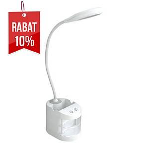Lampka EQUANTUM LED TAU, biała