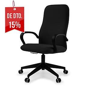 Cadeira executiva Lyreco BD200 com mecanismo basculante - Preto
