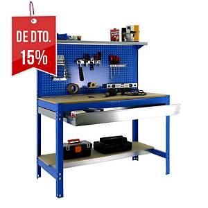 Secretária de trabalho Simonrack BT3 BOX1200 - 144 x 120 x 60 - Madeira/Azul
