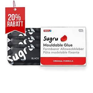 Tesa Sugru formbarer Klebstoff, 3 x 5 g, schwarz