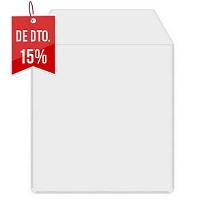 Pack de 50 capas MediaRange para CD/DVD - plástico - com aba - transparente