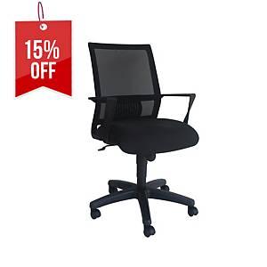 Artrich Art-940MB Mesh Medium Back Chair Black