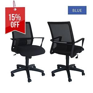Artrich Art-940MB Mesh Medium Back Chair Blue