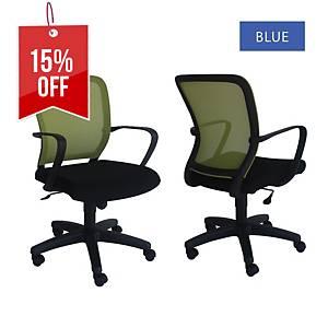 Artrich Art-916MB Mesh Medium Back Chair Blue