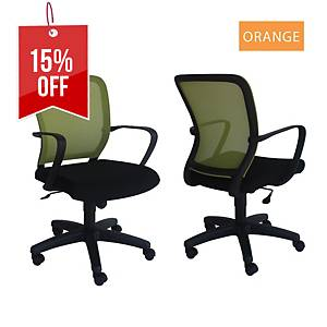 Artrich Art-916MB Mesh Medium Back Chair Orange