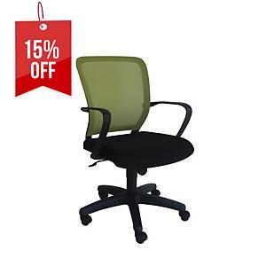 Artrich Art-916MB Mesh Medium Back Chair Green