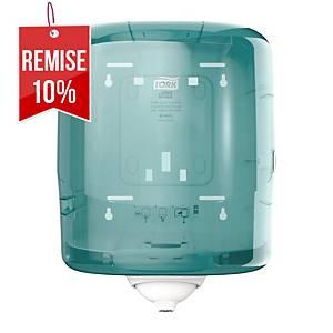 Distributeur d essuie-mains Tork Reflex M4 - dévidage central - blanc/bleu