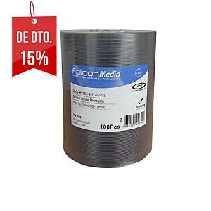 bobina 100 DVD-R Falcon para impressora térmica e de tinta - 4,7 Gb
