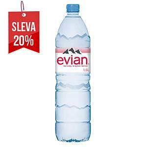 Prírodná minerálna voda Evian 1,5 l, 6 kusov