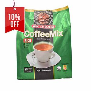 Aik Cheong Coffee Mix 3 in 1 Rich - Pack of 25