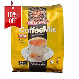 Aik Cheong Coffee Mix 3 in 1  Brown - Pack of 25