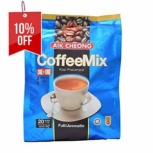 Aik Cheong Coffee Mix 2 in 1 No Sugar - Pack of 20