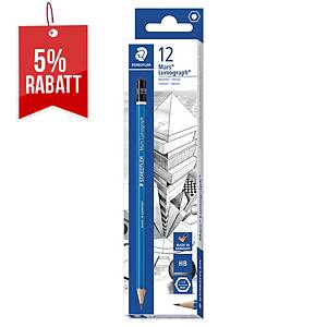 Bleistift Staedtler 100, Härtegrad: HB, blau lackierter Schaft, 12 Stück
