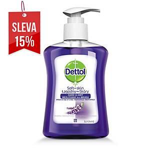 Tekuté mýdlo Dettol antibakteriální, vůně levandule s pumpičkou, 250 ml
