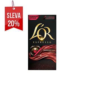 Kávové kapsle L Or Indonesia, 10 kusů