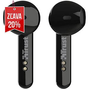Bezdrôtové slúchadlá Trust Primo Touch, Bluetooth, čierne
