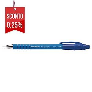 Penna a sfera a scatto PaperMate Flexgrip Ultra punta 1 mm blu