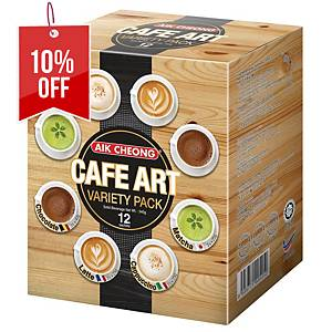 AIK CHEONG Cafe Art  Variety Pack 345g (12 sachets) - Box of 12