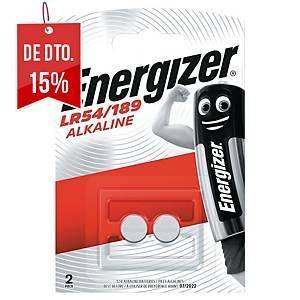 Pack de 2 pilhas-botão alcalinas Energizer LR54/189 - 1,5 V