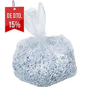Pack de 100 sacos para destruidora de papel Rexel - 115 L