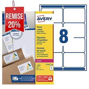 Etiquette expédition Avery - L7165-100 - 99,1 x 67,7 mm - blanche - par 800