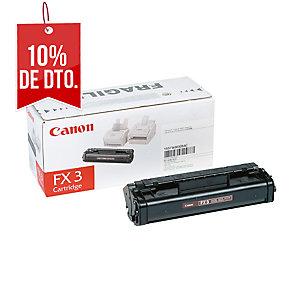 Tóner láser CANON negro FX3 para fax L200/250/280/300/350 y Multipass L60/90