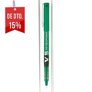 Roller retrátil de tinta líquida Pilot Hi-TecPoint V5 - verde