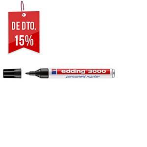 Marcador permanente Edding 3000 - ponta cónica 1,5-3 mm - preto