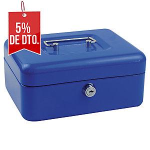 Caja de caudales color azul  Dimensiones:: ensiones:   200X160X90mm