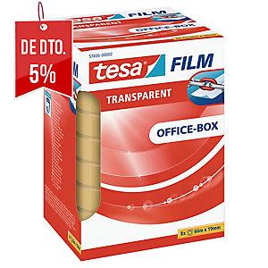Pack 8 rollos de fita adesiva transparente TESA Office Film 19 mm x 66m