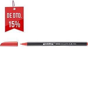 Marcador Edding 1200 - vermelho