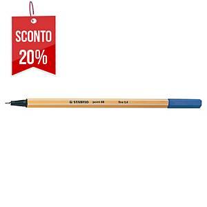 Pennarello Stabilo Point 88 punta fine blu